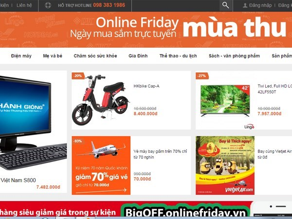 50,000 products on sale for online shopping day hinh anh 1