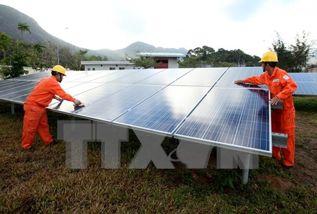 First solar power plant built in Quang Ngai hinh anh 1