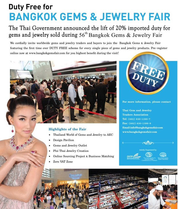 Bangkok gems and jewelry fair to be held in September hinh anh 1