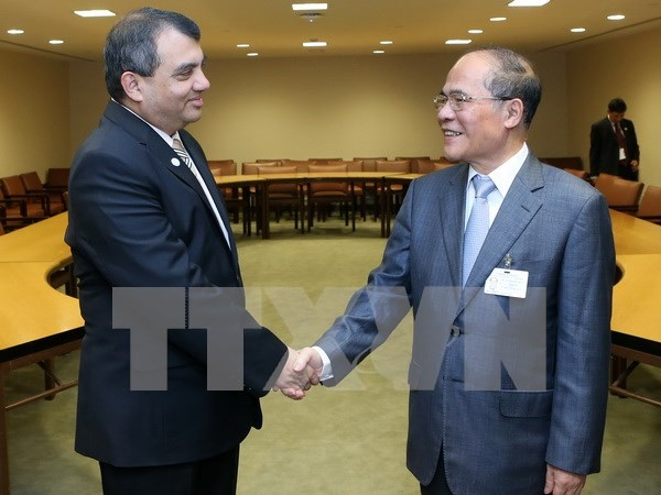 NA leader busy with bilateral meetings in New York hinh anh 1
