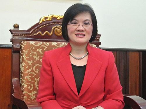 Deputy PM Minh's spouse receives ambassadors' to China hinh anh 1
