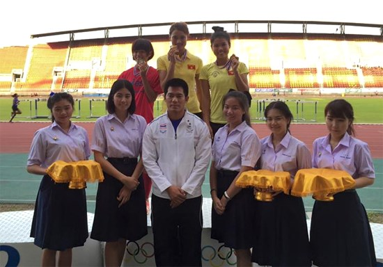Vietnamese athletes win medals at Thai Open hinh anh 1