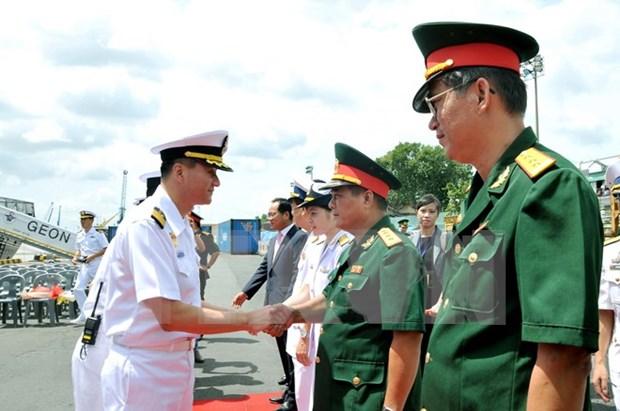 RoK naval ship commences Ho Chi Minh City visit hinh anh 1