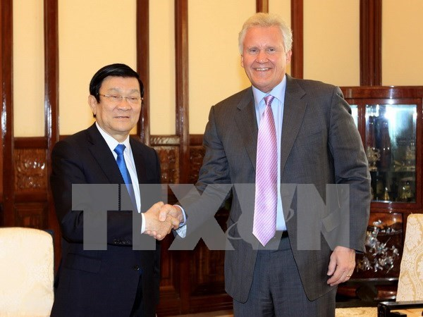 State President welcomes GE Chairman hinh anh 1