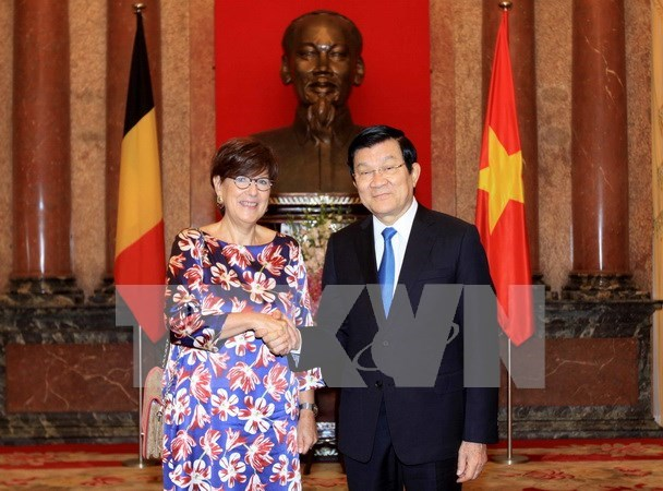 President meets newly-appointed ambassadors hinh anh 1