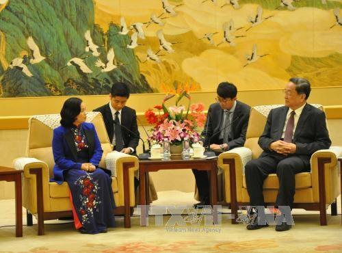 Vietnam Fatherland Front delegation visits China hinh anh 1