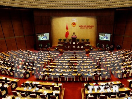 Lawmakers continue plenary session, examine budget allocation hinh anh 1