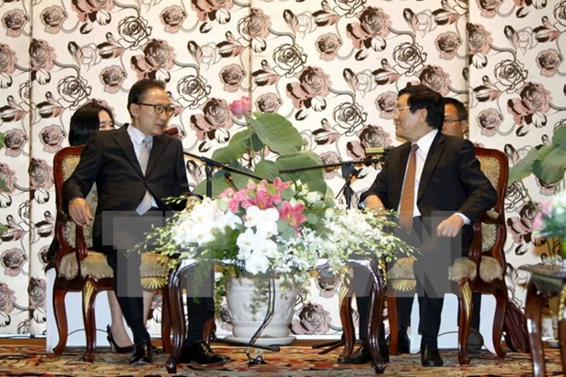 State leader welcomes former RoK President hinh anh 1
