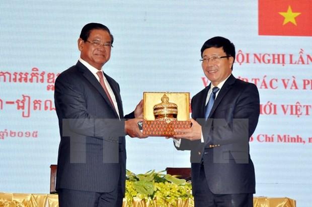 Vietnam, Cambodia advance border province cooperation hinh anh 1