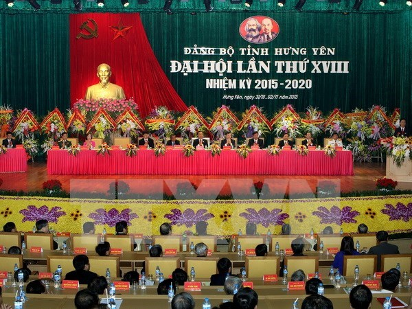 Hung Yen province convenes 18th Party Congress hinh anh 1