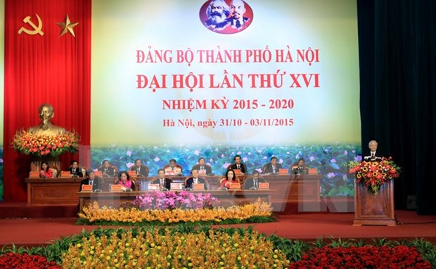 Hanoi holds 16th Party Congress hinh anh 1