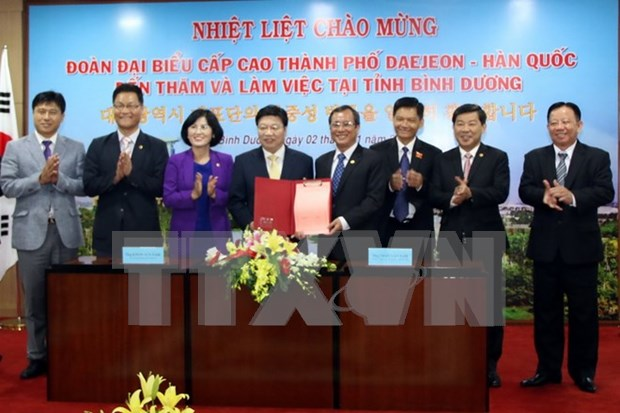 Binh Duong province, Daejeon city solidify collaboration hinh anh 1