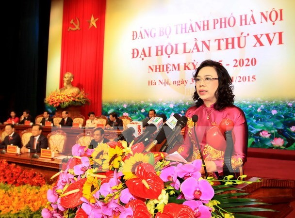 Hanoi wraps up 16th municipal Party Congress hinh anh 1