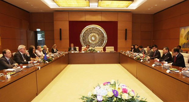 NA committee holds talks with European Parliament's delegation hinh anh 1
