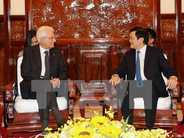 Vietnamese, Italian Presidents concur in ways to reinforce ties hinh anh 1