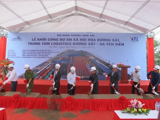 Work starts on Yen Vien railway logistics centre hinh anh 1