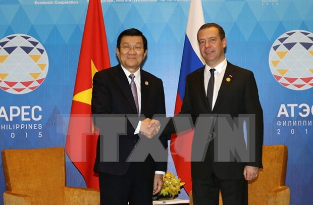 Vietnamese President meets with Russian Prime Minister in Manila hinh anh 1