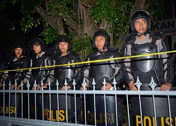Indonesia's anti-terrorism forces on high alert hinh anh 1