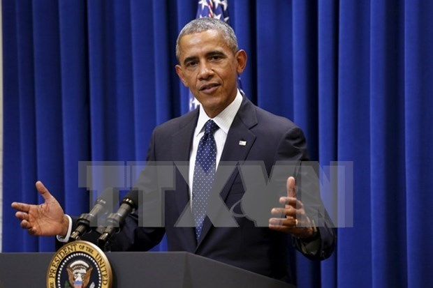 US President calls for end to militaristic claims in East Sea hinh anh 1