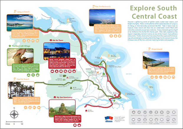 Map of tourism products in Vietnam's central coast launched hinh anh 1