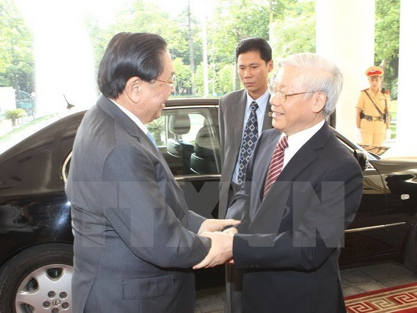 Vietnam congratulates Laos on 40th National Day hinh anh 1
