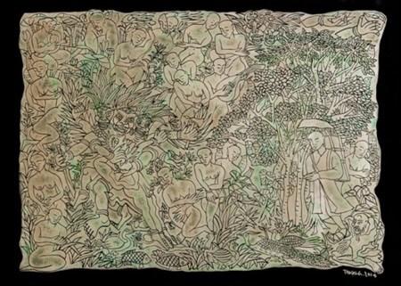 Art auction raises 18,000 USD hinh anh 1