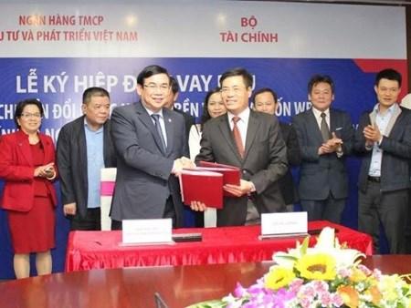 Finance Ministry, BIDV sign 105 million USD loan hinh anh 1