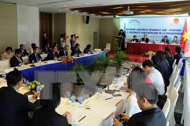 Francophone Parliamentary Assembly's conference opens in HCM City hinh anh 1