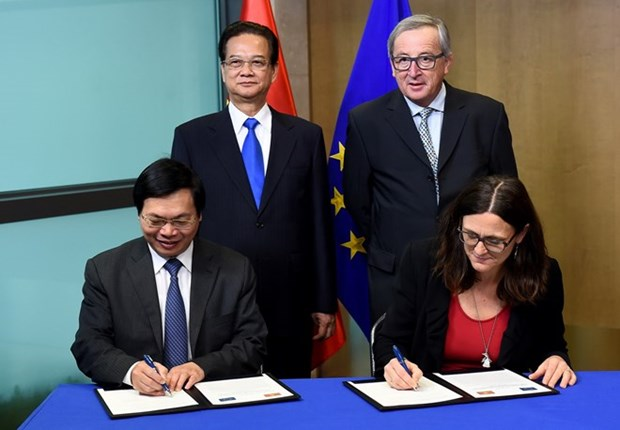 Vietnam, EU conclude negotiations on free trade agreement hinh anh 1
