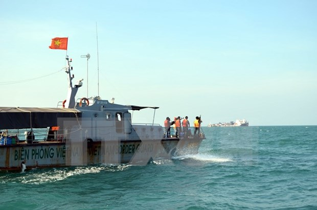 Marine search, rescue drill practiced off Kien Giang's seaport hinh anh 1