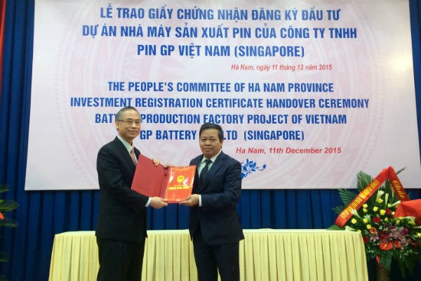 Ha Nam gives 6-mln-USD battery project investment approval hinh anh 1