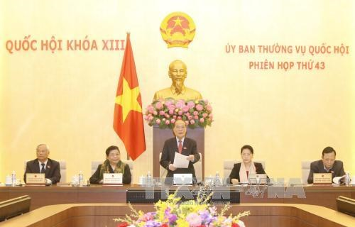 NA Standing Committee's 43rd session winds up hinh anh 1
