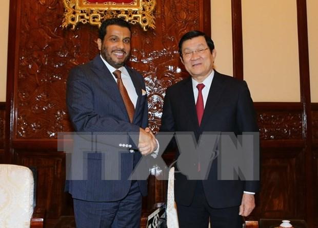 President meets outgoing Qatar Ambassador hinh anh 1