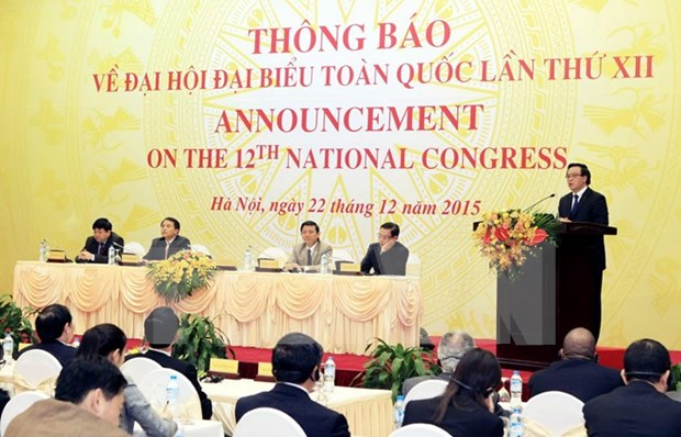 Vietnam invites int'l diplomats to 12th party congress hinh anh 1