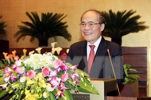 National Assembly Chairman leaves for China visit hinh anh 1