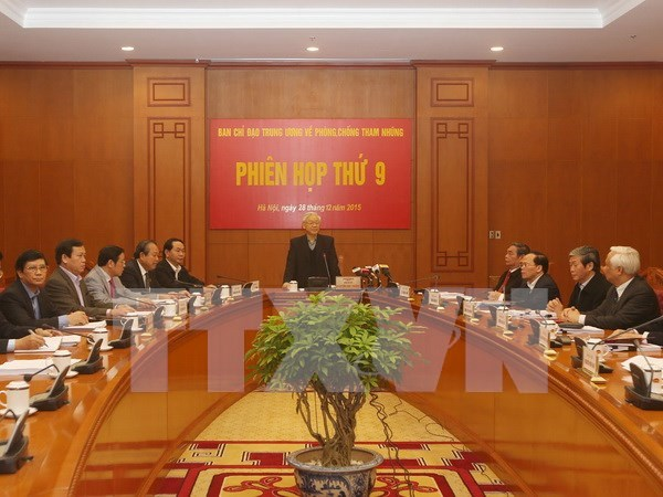 Anti-corruption steering committee calls for stronger effort next year hinh anh 1