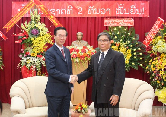 HCM City leader welcomes Lao Consul General hinh anh 1