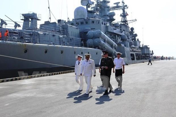 Russia's naval ships visit Da Nang city hinh anh 1