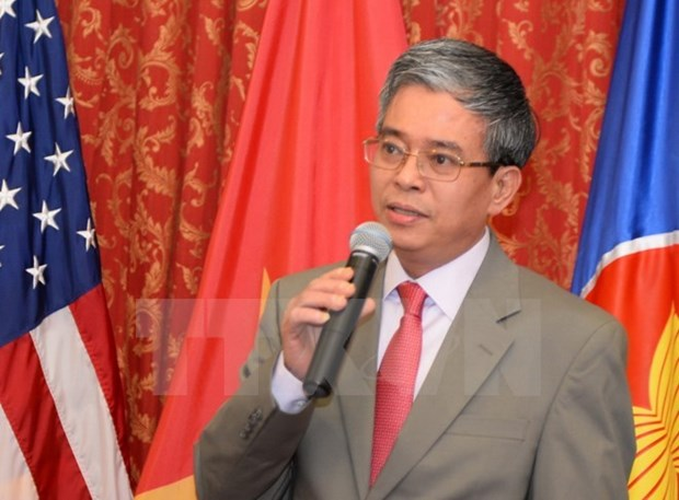 Vietnamese Ambassador chairs ASEAN meeting in Washington hinh anh 1