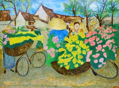 Painting exhibition highlights Vietnamese, Moroccan beauty hinh anh 1