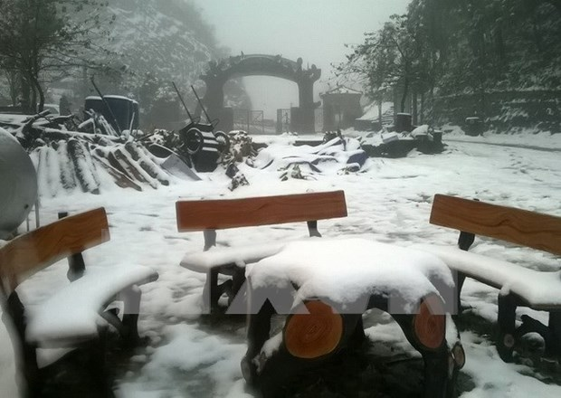 Snow envelops northern mountains hinh anh 1
