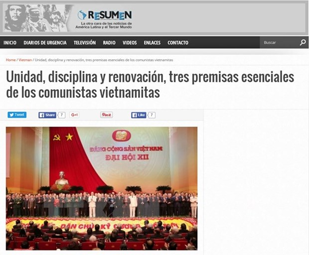Argentine media commends 12th National Party Congress hinh anh 1