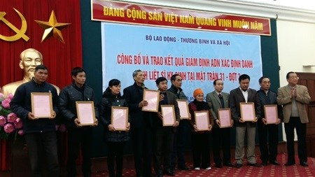 DNA testing helps identify martyrs hinh anh 1
