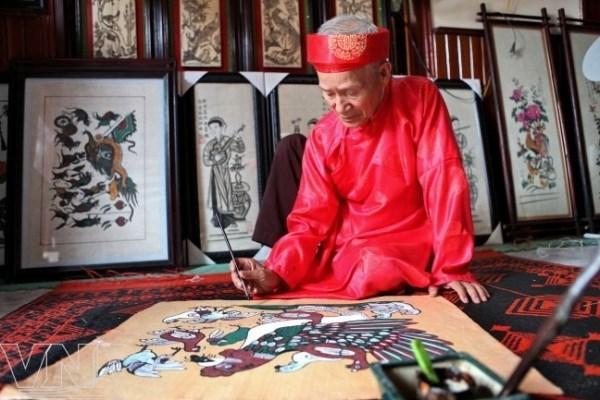 Dong Ho folk painting greets Lunar New Year hinh anh 1