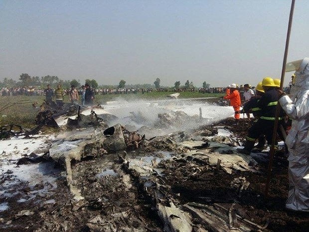 Military plane crashes in Myanmar hinh anh 1