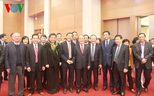 NA Chairman pays Tet visits to legislative agencies hinh anh 1