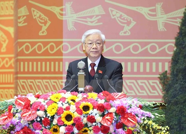 Party chief receives more congratulations over re-election hinh anh 1