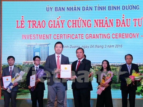 Approx. 700 mln USD in FDI lands in Binh Duong in first two months hinh anh 1