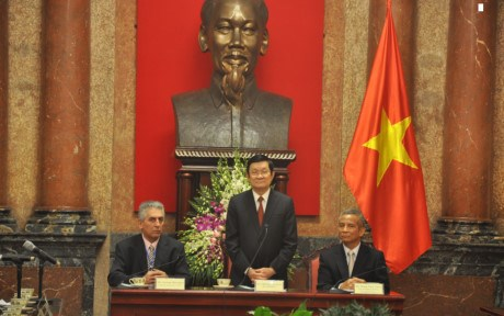 President hails world trade union federation's support hinh anh 1