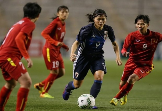 Vietnamese team suffers heavy defeat against Japan hinh anh 1